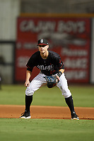 Birmingham Barons first baseman Matt Rose (22) during a game against the Tennessee Smokies on August 16, 2018 at Regions FIeld in Birmingham, Alabama.  Tennessee defeated Birmingham 11-1.  (Mike Janes/Four Seam Images)