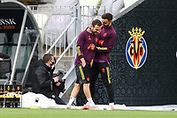 25th May 2021; Gdansk, Poland; Manchester United training at the Stadion Energa Gdańsk prior to their Europa League final versus Villarreal on May 26th; JUAN MATA and BRUNO FERNANDES in jovial mood