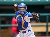 South Dade Buccaneers catcher Juan Aracena (17) during practice before the 42nd Annual FACA All-Star Baseball Classic on June 5, 2021 at Joker Marchant Stadium in Lakeland, Florida.  (Mike Janes/Four Seam Images)
