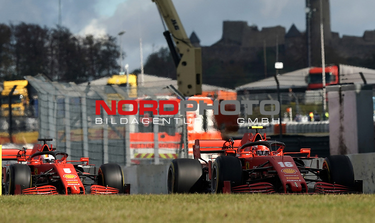 10.10.2020, Nürburgring, Nürburg, Formula 1 Aramco Grosser Preis der Eifel 2020<br /> , im Bild<br />Charles Leclerc (MCO#16), Scuderia Ferrari, Sebastian Vettel (GER#5), Scuderia Ferrari<br /> <br /> Foto © nordphoto / Bratic