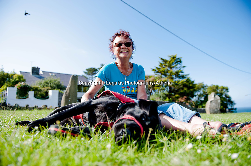 Saturday 28 June 2014<br /> Pictured: Elenor Clark and Aster the Dog <br /> Re: Elenor Clarks dog Aster can tell her when her blood sugar levels are low, saving her from diabetic hypoglycemic reaction
