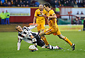 MOTHERWELL'S JAMIE MURPHY  GOES PAST ST MIRREN'S DAVID BARRON..17/12/2011 sct_jsp003_motherwell_v_st_mirren     .Copyright  Pic : James Stewart.James Stewart Photography 19 Carronlea Drive, Falkirk. FK2 8DN      Vat Reg No. 607 6932 25.Telephone      : +44 (0)1324 570291 .Mobile              : +44 (0)7721 416997.E-mail  :  jim@jspa.co.uk.If you require further information then contact Jim Stewart on any of the numbers above.........