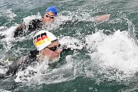 BECK Leonie GER, GRANGEON Lara FRA <br /> Team Event 5 km<br /> Open Water<br /> Budapest  - Hungary  15/5/2021<br /> Lupa Lake<br /> XXXV LEN European Aquatic Championships<br /> Photo Andrea Staccioli / Deepbluemedia / Insidefoto