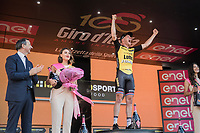 a super happy stage winner Jos Van Emden (NED/LottoNL-Jumbo) on the podium in Milano<br /> <br /> stage 21: Monza - Milano (29km)<br /> 100th Giro d'Italia 2017
