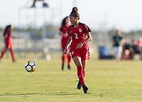 Bradenton, FL - Sunday, June 12, 2018: Makenna Morris during a U-17 Women's Championship Finals match between USA and Mexico at IMG Academy.  USA defeated Mexico 3-2 to win the championship.