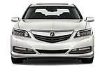 Car photography straight front view of a 2017 Acura RLX Sport Hybrid 4 Door Sedan