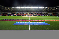 Swansea, UK. Thursday 20 February 2014<br /> Pictured: A UEFA Europa League banner.<br /> Re: UEFA Europa League, Swansea City FC v SSC Napoli at the Liberty Stadium, south Wales, UK