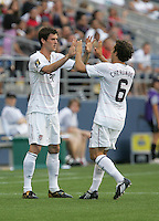 Brad Evans (left) comes in for Steve Cherundolo (6). USA defeated Grenada 4-0 during the First Round of the 2009 CONCACAF Gold Cup at Qwest Field in Seattle, Washington on July 4, 2009.