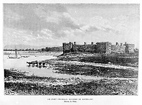 FILE IMAGE - Chambly Fort at the Richelieu river.<br /> <br /> Drawing by Slom
