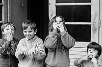 Children at the Varazdin refugee camp in the winter of 1992. The boy on the left is 'Elvis'. <br /> <br /> In 1992 while volunteering at the Varazdin refugee camp Panos photographer Bjoern Steinz met and became close to Elvis, a Bosnian Muslim refugee, and his family. They shared the hardships of camp life together which Steinz documented. While the prints were archived for many years two of the images always returned to Bjoern's thoughts. 25 years later he set out to try and find out what had happened to Elvis and his family in the intervening years. Modern social media made the task surprisingly easy and they were reunited in Hadzici where Elvis now lives with his family.