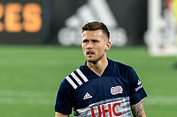 FOXBOROUGH, MA - APRIL 24: Arnor Traustason #25 of New England Revolution in game portrait during a game between D.C. United and New England Revolution at Gillette Stadium on April 24, 2021 in Foxborough, Massachusetts.