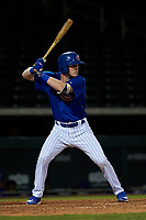 AZL Cubs 1 Ryan Reynolds (17) at bat during an Arizona League game against the AZL Royals on June 30, 2019 at Sloan Park in Mesa, Arizona. AZL Royals defeated the AZL Cubs 1 9-5. (Zachary Lucy/Four Seam Images)