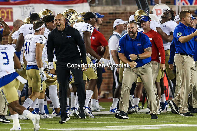 Tulsa Golden Hurricanes in action during the game between the Tulsa Golden Hurricanes and the SMU Mustangs at the Gerald J. Ford Stadium in Fort Worth, Texas.