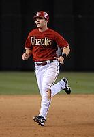 Apr 10, 2007; Phoenix, AZ, USA; Arizona Diamondbacks shortstop (6) Stephen Drew runs to third base during the game against the Cincinnati Reds at Chase Field in Phoenix, AZ. Mandatory Credit: Mark J. Rebilas