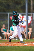 Dartmouth Big Green third baseman Justin Fowler (25) at bat during a game against the Eastern Michigan Eagles on February 25, 2017 at North Charlotte Regional Park in Port Charlotte, Florida.  Dartmouth defeated Eastern Michigan 8-4.  (Mike Janes/Four Seam Images)