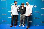 "Alberto Sanchez Cabezudo, Eduardo Fernandez and Jorge Sanchez Cabezudo during the presentation of the spanish new series for Movistar+ ""La Zona"" in Madrid. July 19. Spain 2016. (ALTERPHOTOS/Borja B.Hojas)"