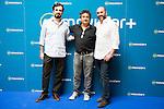 "Alberto Sanchez Cabezudo, Eduardo Fernandez and Jorge Sanchez Cabezudo during the presentation of the spanish new series for Movistar+ ""La Zona"" in Madrid. July 19. Spain 2016. (ALTERPHOTOS/Borja B.Hojas)"