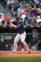 Pawtucket Red Sox third baseman Matt Dominguez (3) at bat during a game against the Buffalo Bisons on August 31, 2017 at Coca-Cola Field in Buffalo, New York.  Buffalo defeated Pawtucket 4-2.  (Mike Janes/Four Seam Images)