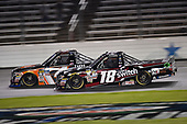 NASCAR Camping World Truck Series<br /> JAG Metals 350<br /> Texas Motor Speedway<br /> Fort Worth, TX USA<br /> Friday 3 November 2017<br /> Christopher Bell, JBL Toyota Tundra, Noah Gragson, Switch Toyota Tundra<br /> World Copyright: John K Harrelson<br /> LAT Images