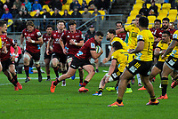 Crusaders' David Havili takes the ball up during the Super Rugby Aotearoa match between the Hurricanes and Crusaders at Sky Stadium in Wellington, New Zealand on Saturday, 21 June 2020. Photo: Dave Lintott / lintottphoto.co.nz