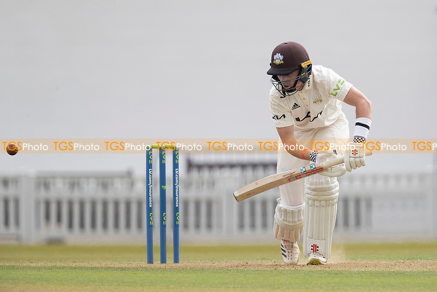 Ollie Pope pushes into the off side for a single during Surrey CCC vs Hampshire CCC, LV Insurance County Championship Group 2 Cricket at the Kia Oval on 30th April 2021