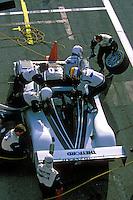 #20 Dyson Riley makes a pit stop and driver change...2002 Rolex 24 at Daytona, Daytona International Speedway, Daytona Beach, Florida USA Feb. 2002.(Sports Car Racing)