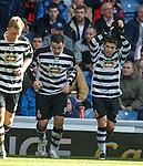 East Stirling's goalscorer Andrew Stirling celebrates
