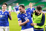 Celtic v St Johnstone…06.12.20   Celtic Park      SPFL<br />Chris Kane celebrates his goal with sub Alex Ferguson<br />Picture by Graeme Hart.<br />Copyright Perthshire Picture Agency<br />Tel: 01738 623350  Mobile: 07990 594431