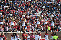Arkansas and Ole Miss fans cheer, Saturday, October 9, 2021 during the fourth quarter of a football game at Vaught Hemingway Stadium in Oxford, Miss. Check out nwaonline.com/211010Daily/ for today's photo gallery. <br /> (NWA Democrat-Gazette/Charlie Kaijo)