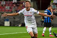 21st August 2020, Rheinenergiestadion, Cologne, Germany; Europa League Cup final Sevilla versus Inter Milan;  Luuk de Jong celebrate scoring for 1:1
