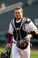 Luke Voit (30) of the Missouri State Bears during a game against the Oral Roberts Golden Eagles on March 27, 2011 at Hammons Field in Springfield, Missouri.  Photo By David Welker/Four Seam Images