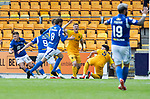 St Johnstone v Livingston….10.08.19      McDiarmid Park     SPFL <br />Callum Hendry celebrates his goal<br />Picture by Graeme Hart. <br />Copyright Perthshire Picture Agency<br />Tel: 01738 623350  Mobile: 07990 594431