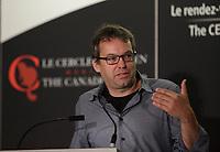 Eric Fournier, Partenaire et producteur exécutif de Moment Factory à la tribune du Cercle canadien de Montréal, le 12 Septembre 2016<br /> <br /> <br /> Eric Fournier, Moment Factory speak at the Canadian Club of Montreal, Monday, September 12, 2016.<br /> <br /> Photo : agence quebec presse