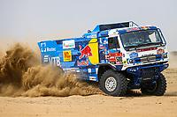 31st December 2020, Jeddah, Saudi Arabian. The vehicle and river shakedown for the 2021 Dakar Rally in Jeddah;   500 Karginov Andrey rus, Mokeev Andrey rus, Leonov Igor rus, Kamaz, Kamaz - Master, Camion, Truck, action during the shakedown of the Dakar 2021 in Jeddah