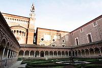 Il Chiostro piccolo della Certosa di Pavia.<br /> The Small Cloister of the Certosa di Pavia.<br /> UPDATE IMAGES PRESS/Riccardo De Luca