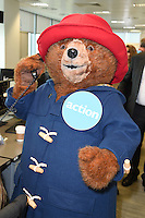Paddington<br /> on the trading floor for the BGC Charity Day 2016, Canary Wharf, London.<br /> <br /> <br /> ©Ash Knotek  D3152  12/09/2016