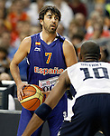 Spain's Juan Carlos Navarro during friendly match.July 24,2012. (ALTERPHOTOS/Acero)
