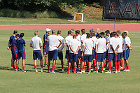Washington D.C. VA. - Tuesday, September 1, 2015: The USMNT training in preparation for their international friendlies against Peru and Brazil at American University.