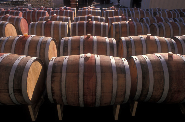 Wine barrels ready for cleaning
