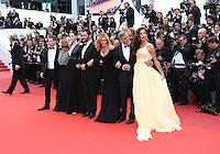 JULIA ROBERTS JODIE FOSTER GEORGE CLOONEY AMAL ALMUDDIN DOMINIC WEST CAITRONA BALFE JACK O CONNELL<br /> 69 EME FESTIVAL DE CANNES MONTEE DES MARCHES DU FILM MONEY MONSTER<br /> RED CARPET MONEY MONSTER<br /> LE 12 05 2016