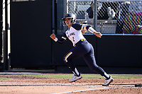 DURHAM, NC - FEBRUARY 29: Brooke Marquez #1 of the University of Notre Dame hits the ball during a game between Notre Dame and Duke at Duke Softball Stadium on February 29, 2020 in Durham, North Carolina.