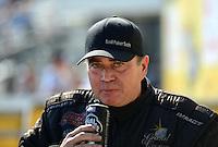 Sept. 23, 2012; Ennis, TX, USA: NHRA top fuel dragster driver Scott Palmer during the Fall Nationals at the Texas Motorplex. Mandatory Credit: Mark J. Rebilas-US PRESSWIRE
