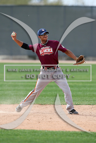 January 16, 2010:  Trey Russell (Urbana, IL) of the Baseball Factory North Team during the 2010 Under Armour Pre-Season All-America Tournament at Kino Sports Complex in Tucson, AZ.  Photo By Mike Janes/Four Seam Images