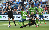 Kansas City, Kansas - Sunday, May 26, 2019: Sporting Kansas City defeated the Seattle Sounders 3-2 during their Major League Soccer (MLS) match at Children's Mercy Park.