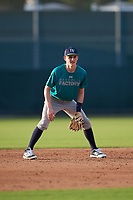 Joey Kurtz (63), from Westborough, Massachusetts, while playing for the Mariners during the Baseball Factory Pirate City Christmas Camp & Tournament on December 27, 2017 at Pirate City in Bradenton, Florida.  (Mike Janes/Four Seam Images)