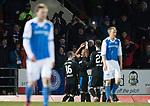 St Johnstone v Rangers…27.02.18…  McDiarmid Park    SPFL<br />Alfredo Morelos celebrates his goal<br />Picture by Graeme Hart. <br />Copyright Perthshire Picture Agency<br />Tel: 01738 623350  Mobile: 07990 594431