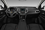 Stock photo of straight dashboard view of a 2020 Chevrolet Equinox LT 5 Door SUV