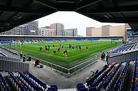 General view of the ground ahead of AFC Wimbledon vs Crawley Town, Emirates FA Cup Football at Plough Lane on 29th November 2020