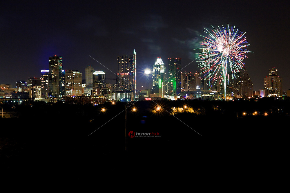 4th of July Fireworks over Austin Texas