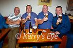 Enjoying the evening in Killarney on Saturday, l to r: DJ Quane, Tom and Paul Sheehy (Ballyduff) and Pat Flynn (Listowel).